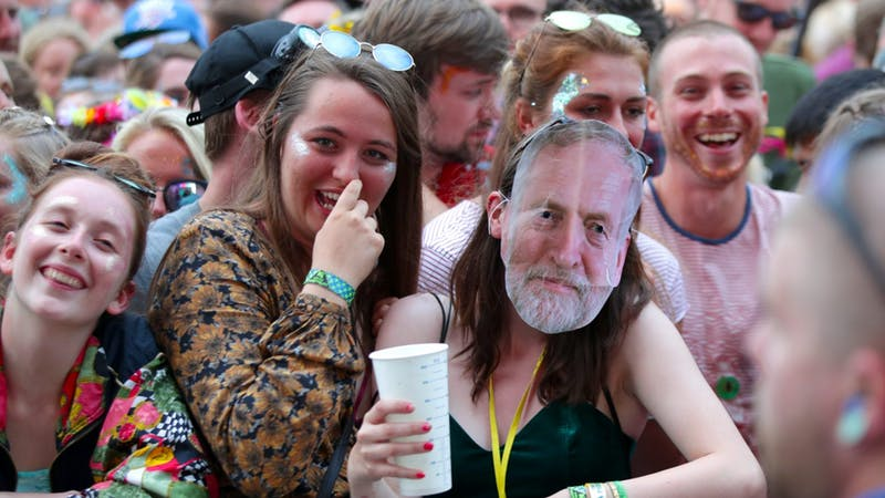 Watch Labour leader Jeremy Corbyn send Glastonbury festival wild with speech