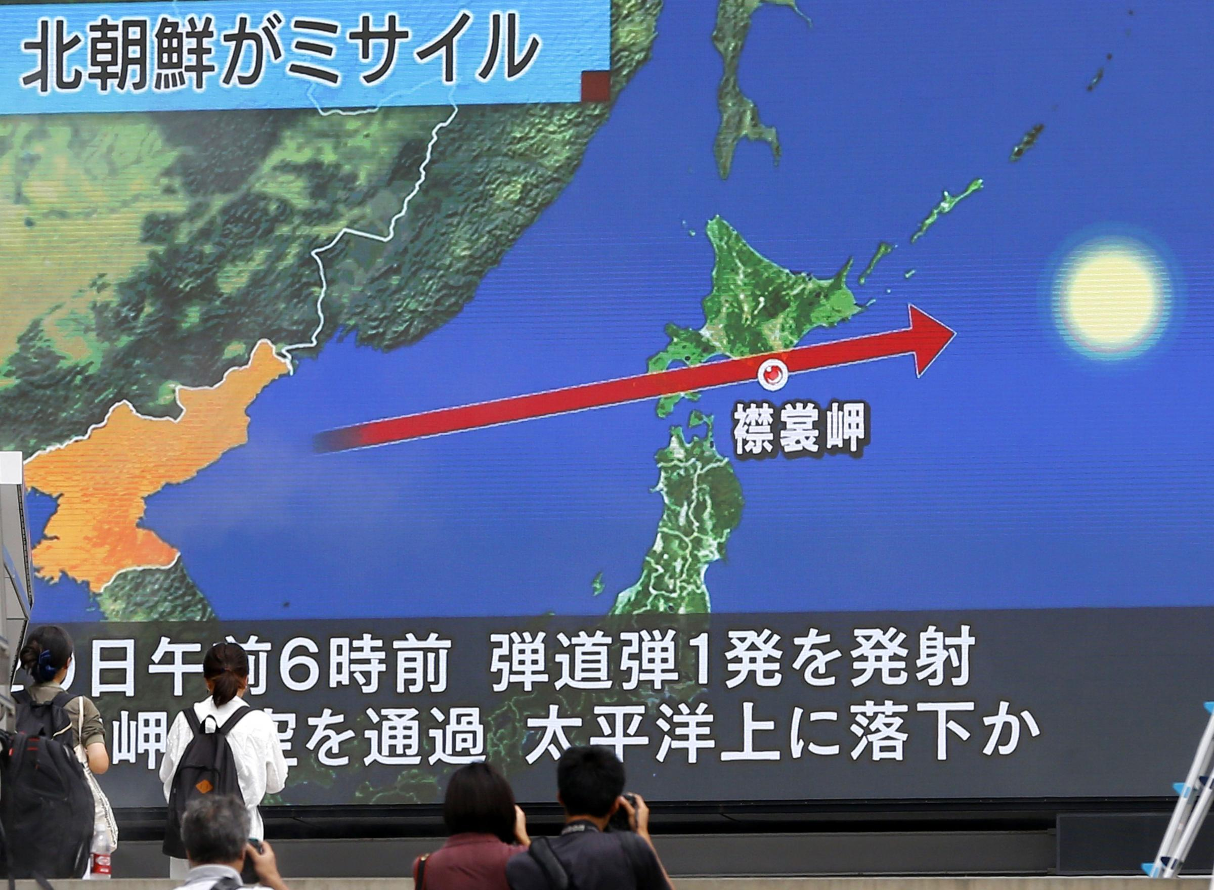 "Trump warns North Korea ""all options are on the table"" after Pyongyang's provocative missile launch over Japan"