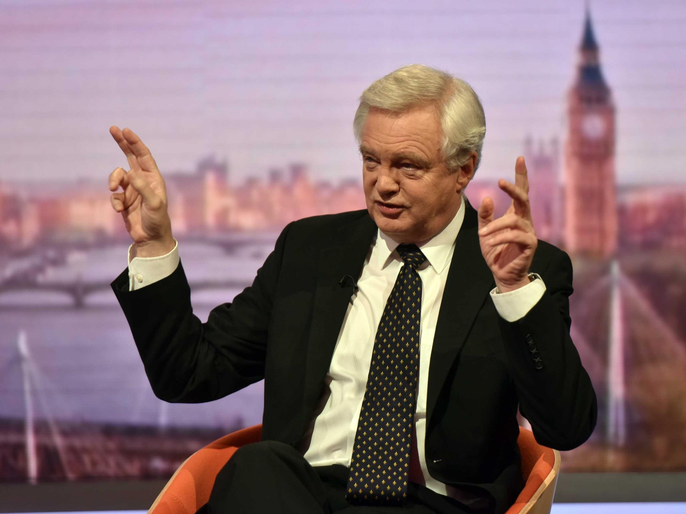 "David Davis accuses Brussels of ""silly"" approach to Brexit talks"
