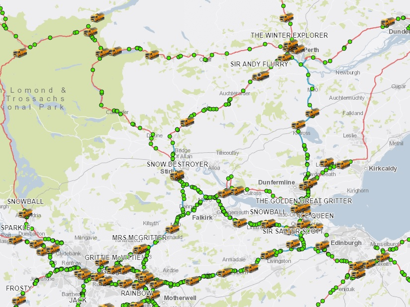 The place's Sir Andy Flurry? Protecting observe of Scotland's gritters