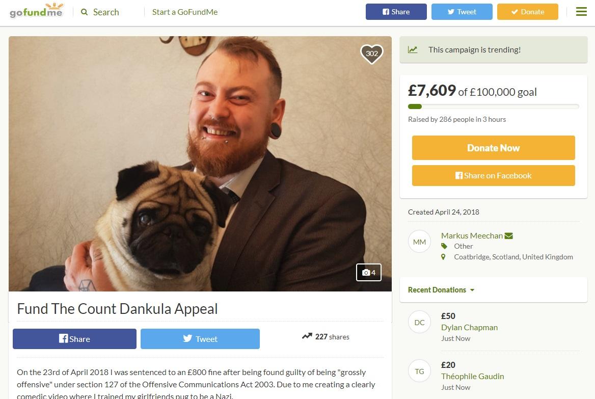 Scottish man gets $1100 fine for teaching dog to do Nazi salute