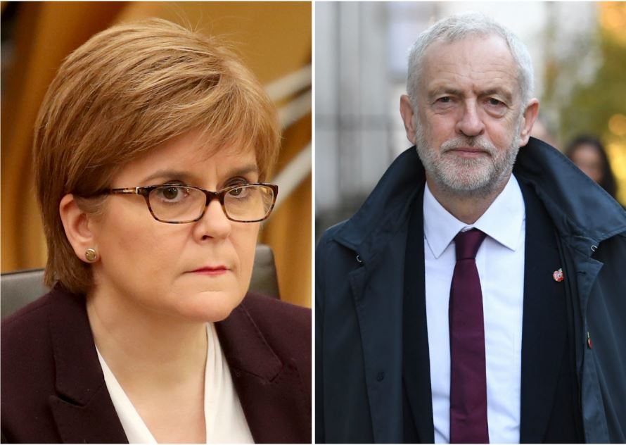 Scotland first minister pushes Labour to oust May government